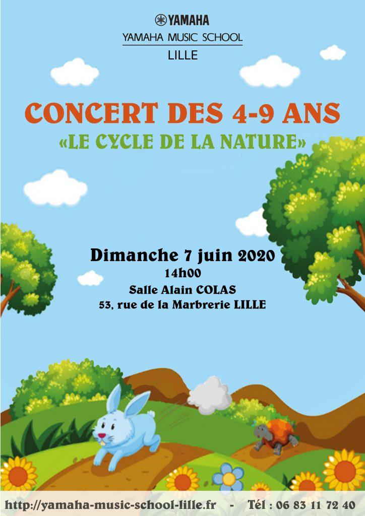 Concert du 7 juin 2020 des 4/9 ans
