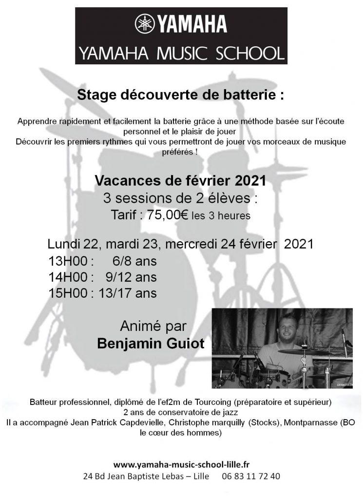 Stage de batterie 2021